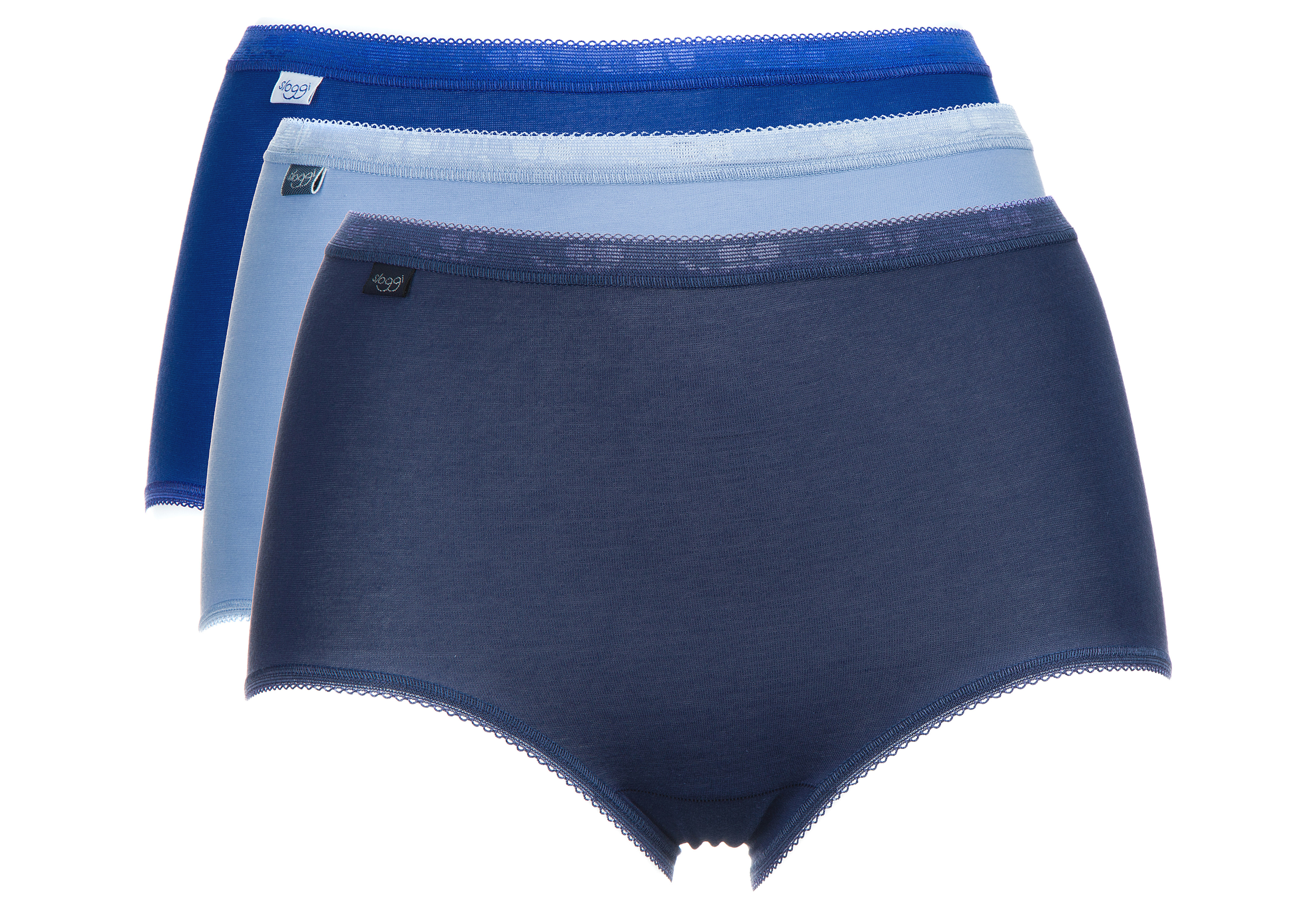 Women sloggi Basic+ Briefs 3 Piece Blue - Glami.gr 69c750431ef
