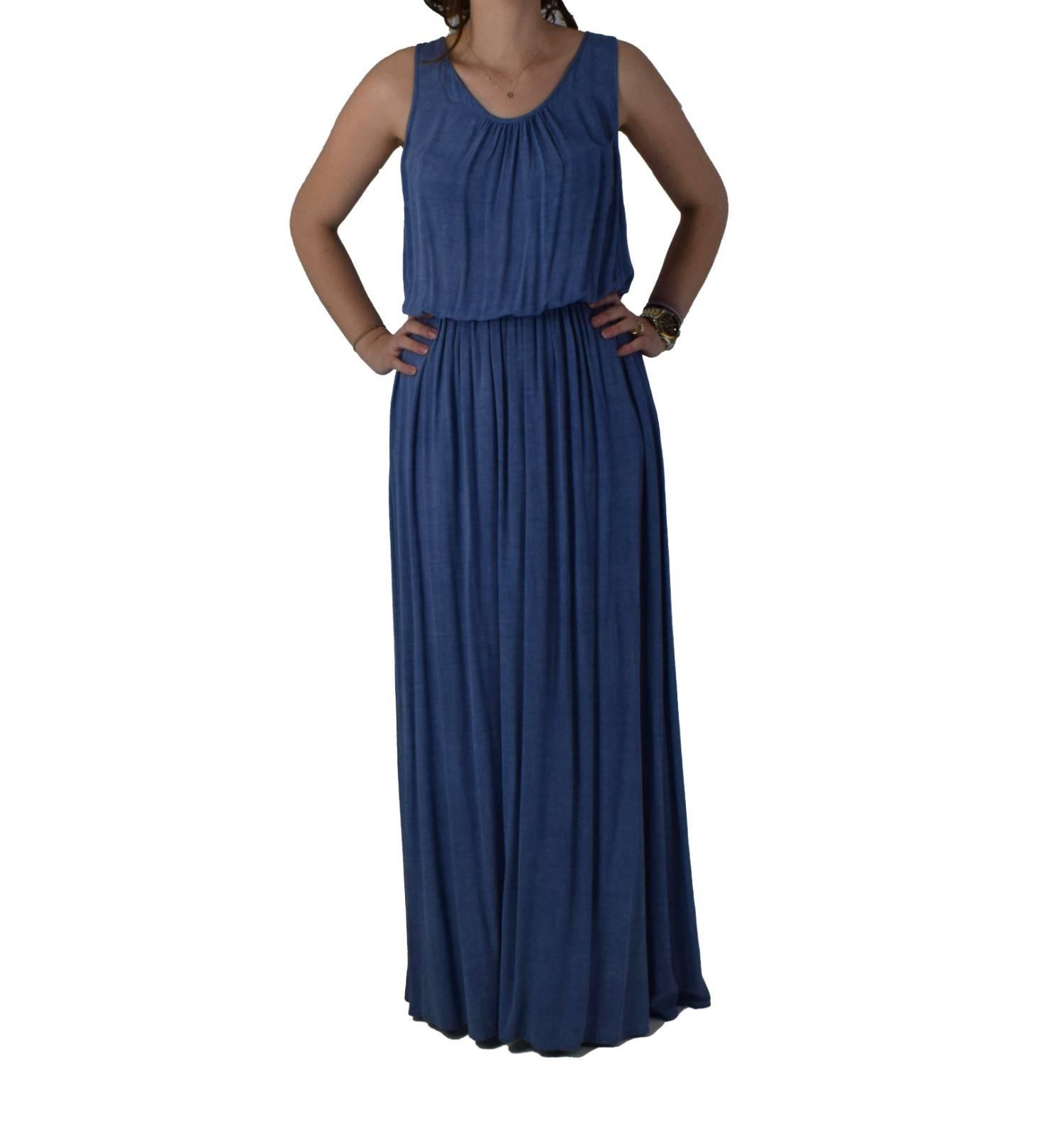 0a30704b0309 Φόρεμα Maxi Toi&Moi 50-2380-16 Μπλε toimoi 50-2380-16 mple - Glami.gr