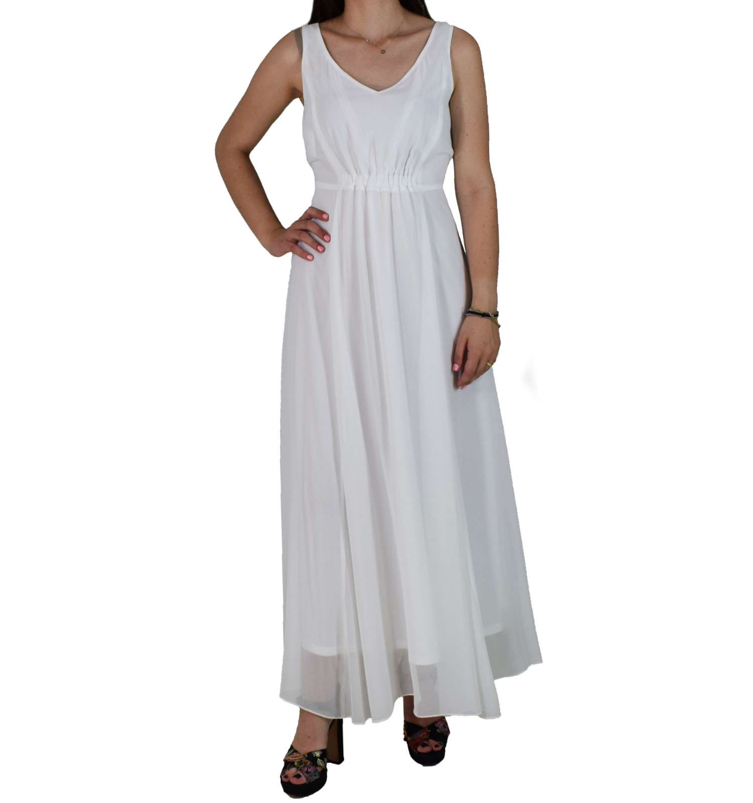 29538325f6c5 Maxi Φόρεμα Passager 75358 Λευκό passager 75358 leyko - Glami.gr