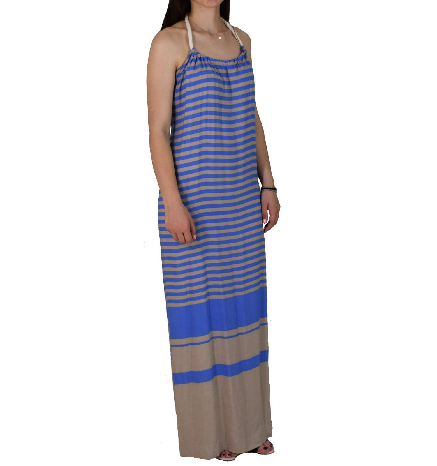 Φόρεμα Maxi L3 8545.14 Μπλε Μπεζ Ριγέ 8545.14 mple mpez - Glami.gr 2bb48f091fb
