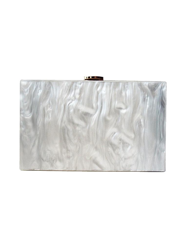 fea488e1c1 Stylegr Τσάντα απο ακρυλικό white marble - Glami.gr