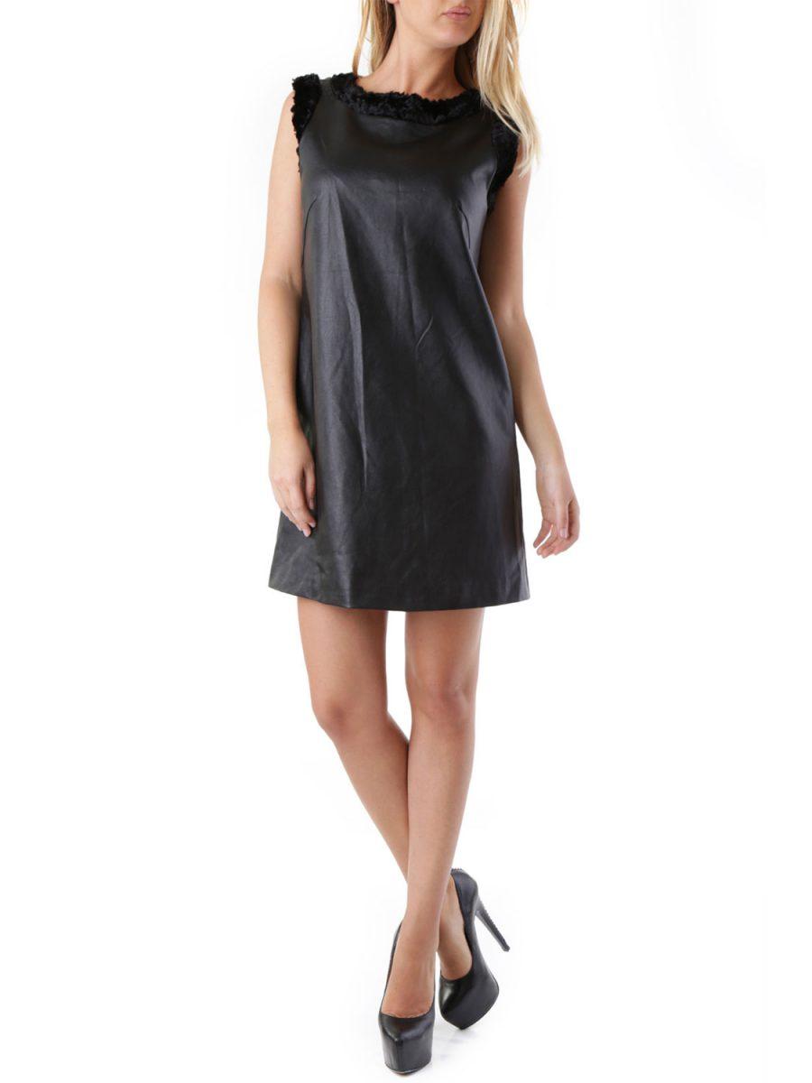 SEXY WOMAN Φόρεμα κοντό δερματίνη - ΜΑΥΡΟ - Glami.gr 167c9a81f57