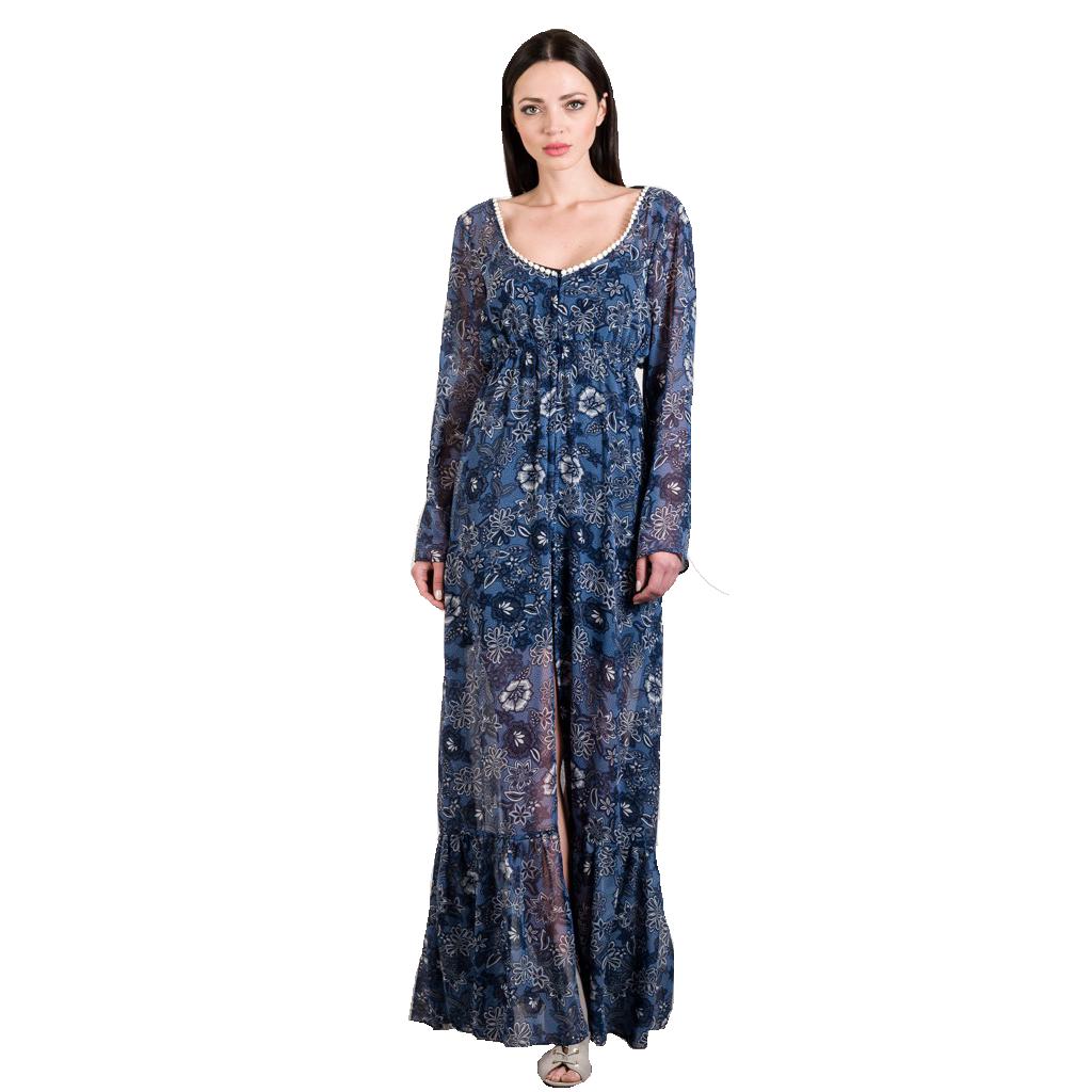 14cfe8a671a6 Be you Maxi φόρεμα-καφτάνι από μουσελίνα - Glami.gr