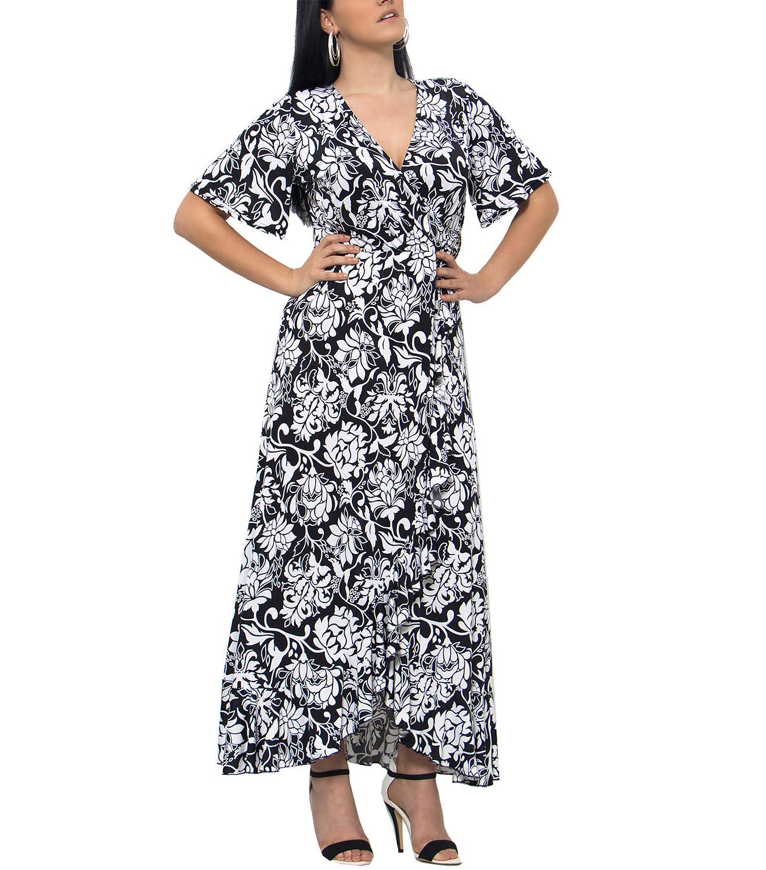 09ced7f79cfe RAVE Ασπρόμαυρο φόρεμα με μοτίβα - 48-50 - Glami.gr