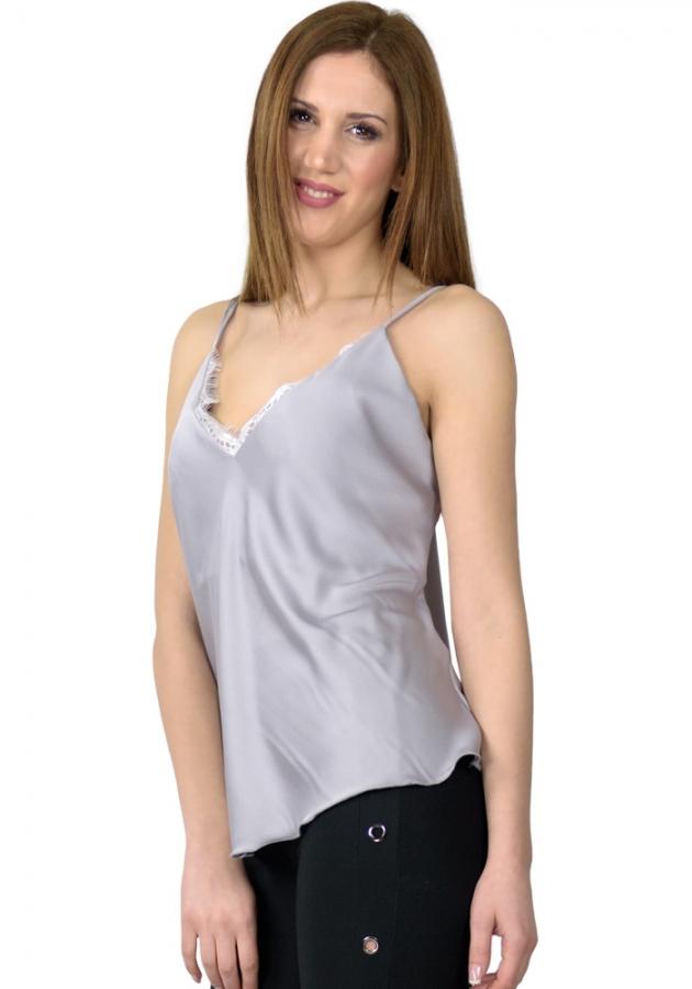 cf19d57f6704 Miss Pinky Τοπ lingerie satin - ΓΚΡΙ 106-1084 - Glami.gr