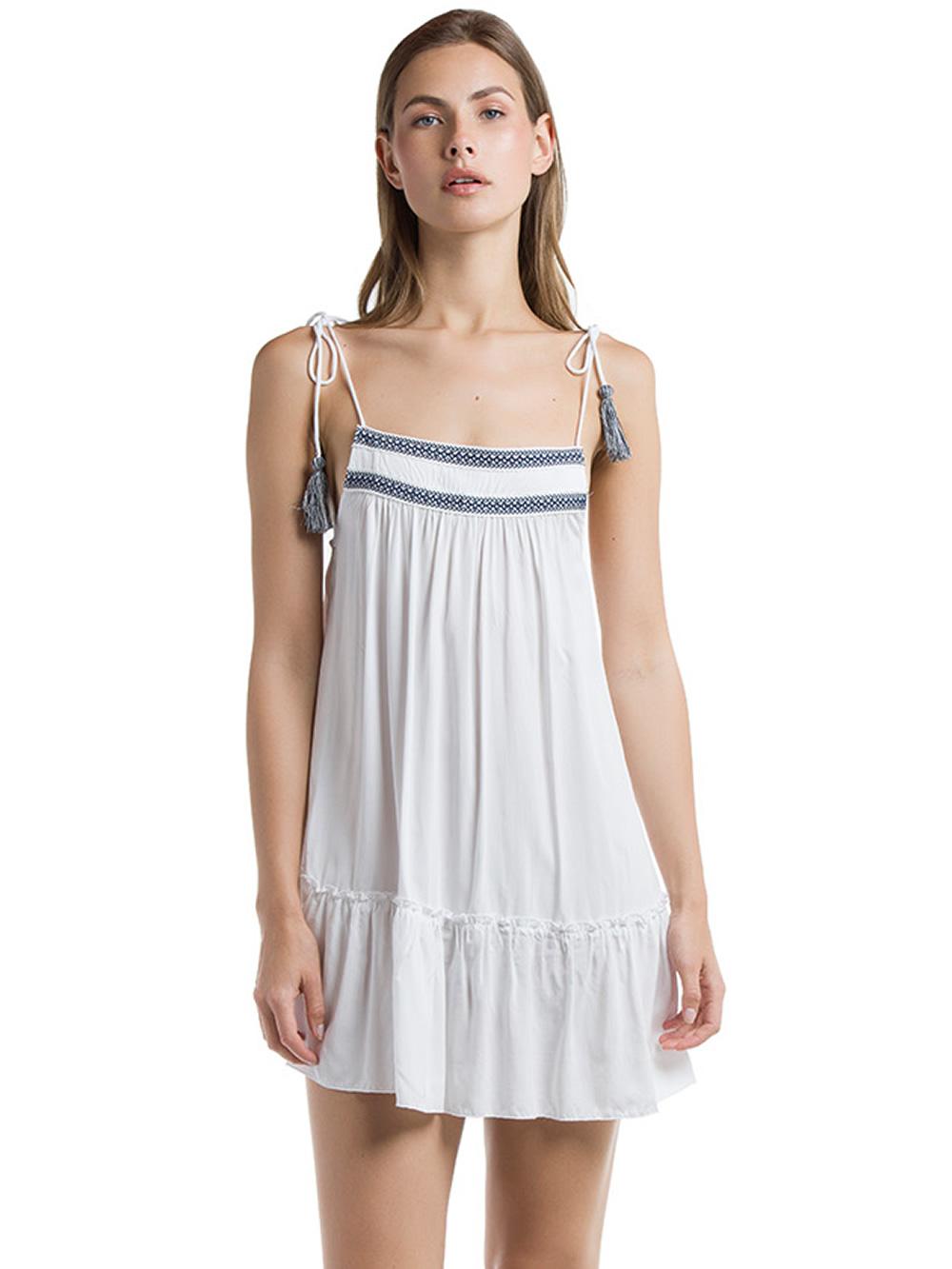 186243536638 Harmony Αέρινο Φόρεμα - Σχέδιο Κέντημα   Φούντες - Glami.gr