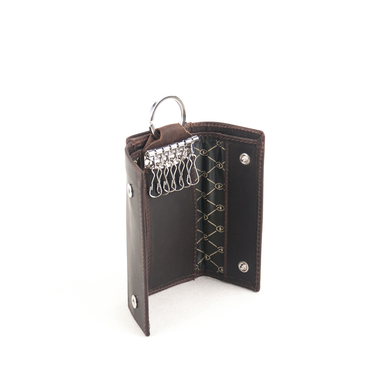 6b4651cfc6 Kouros Δερμάτινη Κλειδοθήκη - Πορτοφόλι Model GO7 Χρώμα Καφέ Σκούρο ...