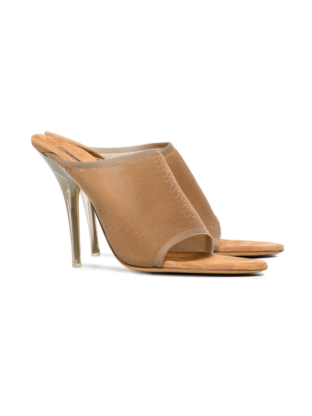 Yeezy taupe 110 knitted high heel mules - Neutrals