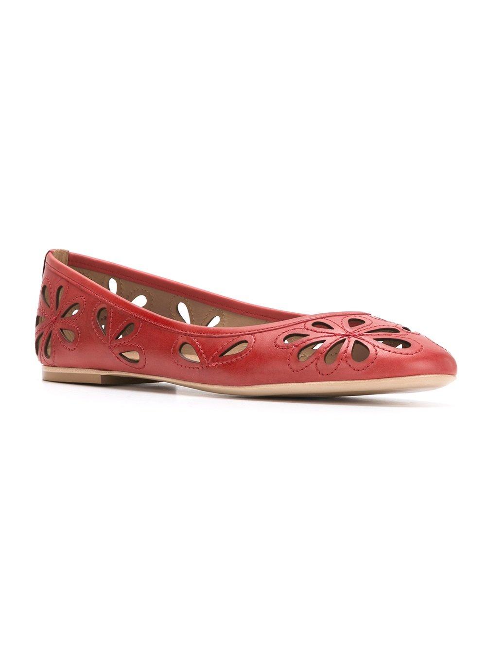 Sarah Chofakian leather ballerinas - Red
