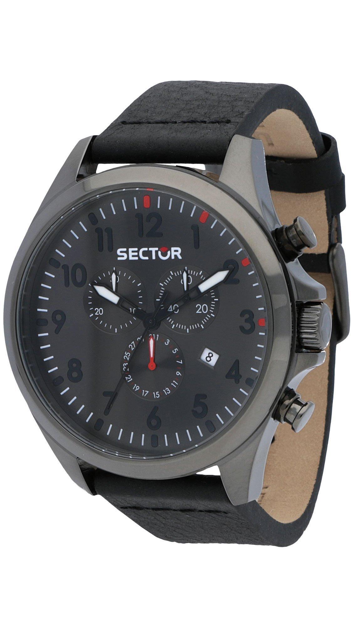 Ρολόι Sector 180 Contemporary χρονογράφος με μαύρο λουράκι R3271690026 5d59d900900