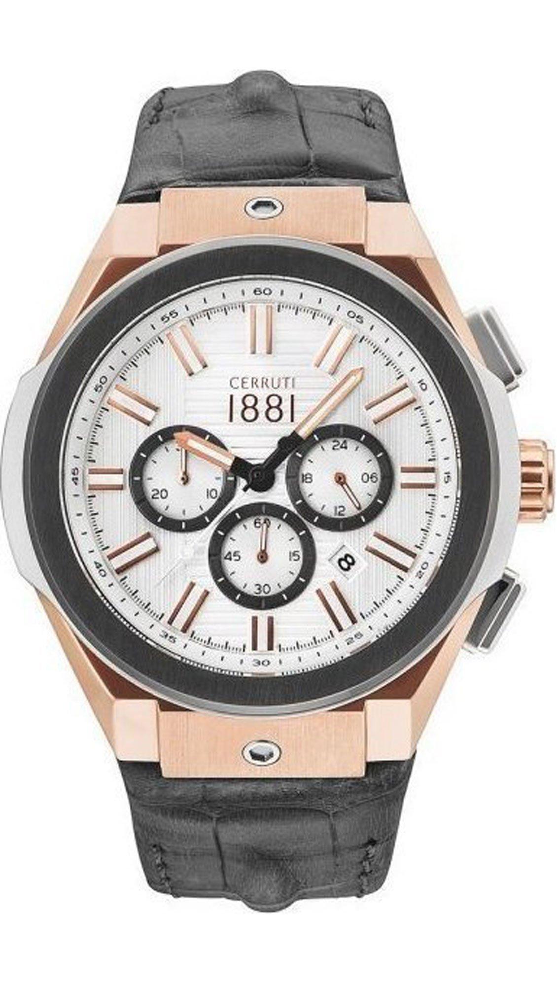 Ρολόι Cerruti Ruscello χρονογράφος με γκρι λουράκι CRA163SRU04GY ... 85ef58c652f