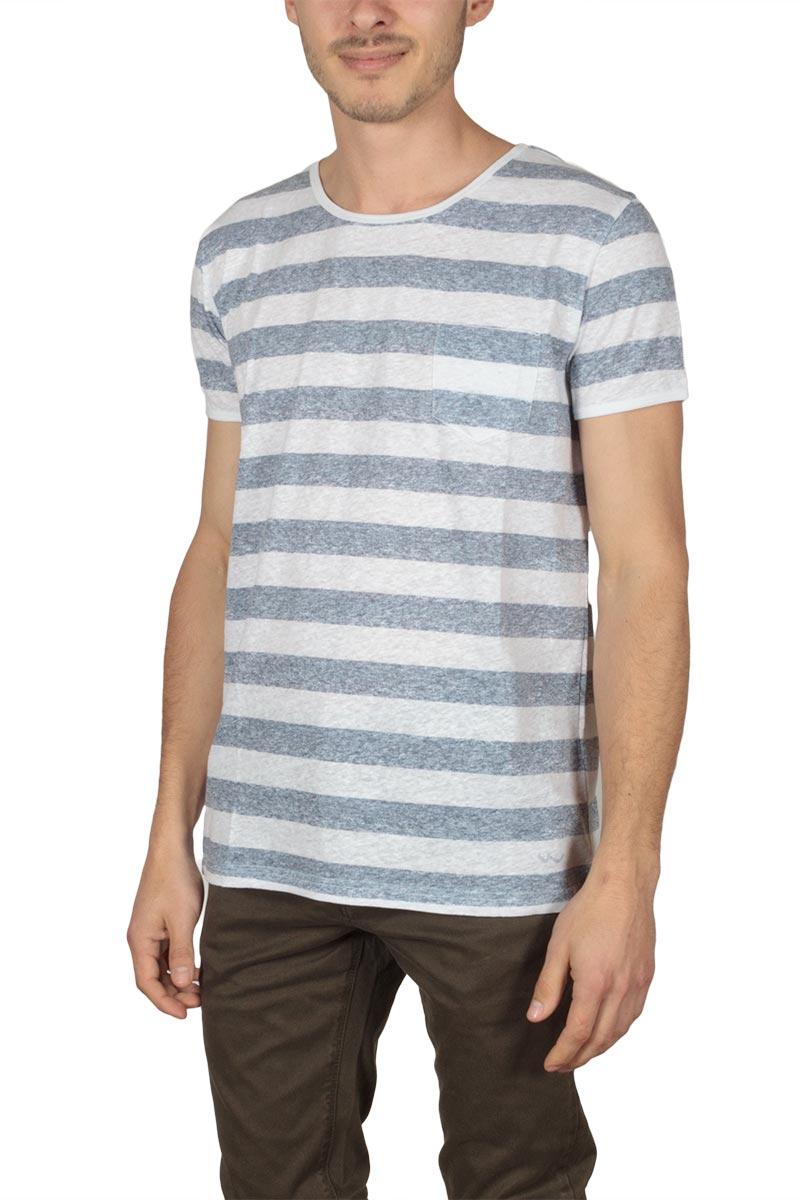 c607e5acc541 LTB Zemero ανδρικό t-shirt ριγέ λευκό-μπλε - Glami.gr