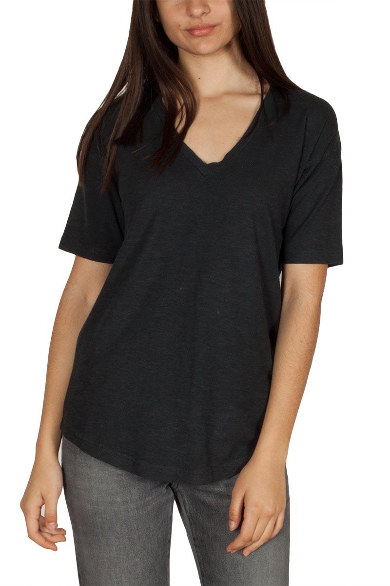 4c03a0b47a6e Thinking Mu γυναικείο hemp t-shirt μαύρο με V-λαιμόκοψη - Glami.gr