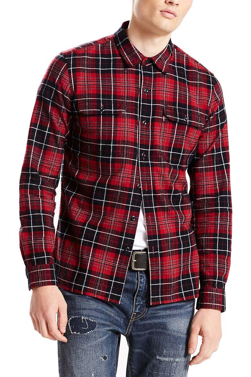 d75b1b8bbaba Levis LEVI S πουκάμισο Jackson worker tulsi red dahlia plaid - Glami.gr
