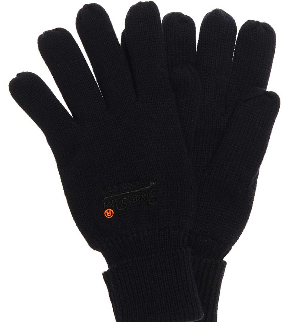 Superdry - M93054LPF2 02A - Orange Label Basic Glove - Black - Γάντια -  black f40b55f3c9a