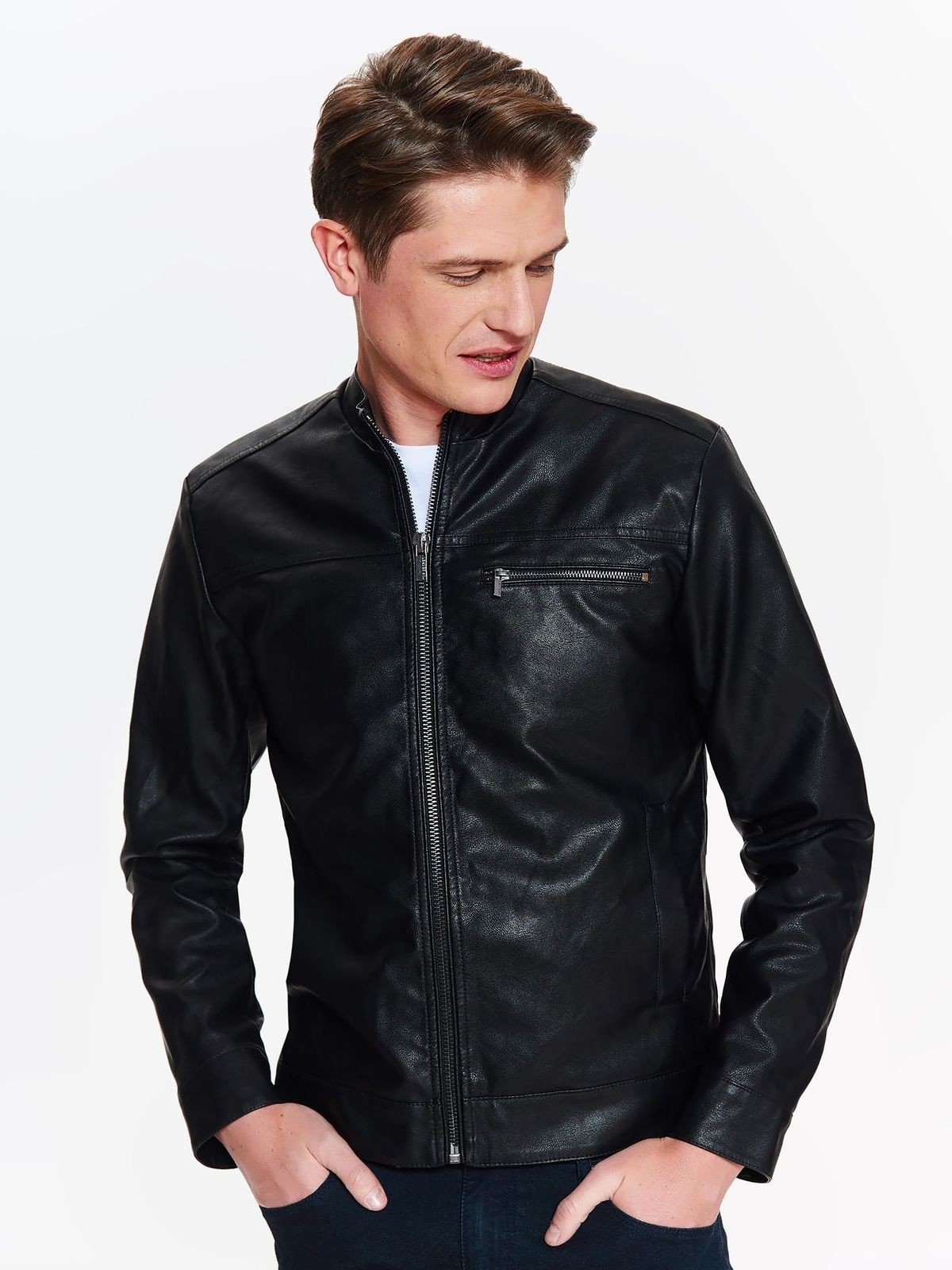 TOP SECRET TOP SECRET leather τζακετ - Glami.gr f4a8dccefc4