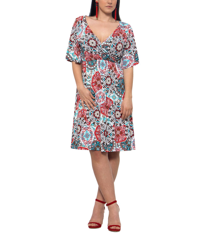 deffacc9ffa1 RAVE Θηλυκό φόρεμα με μοτίβα - 58-60 - Glami.gr