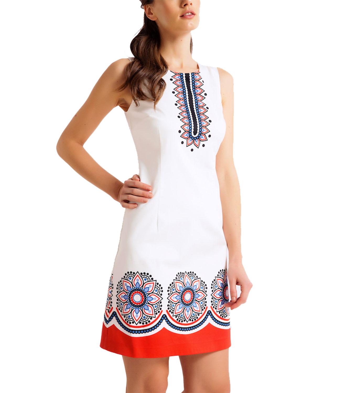 9b134c3897f9 RAVE Βαμβακερό φόρεμα με σικάτα μοτίβα - 48 - Glami.gr
