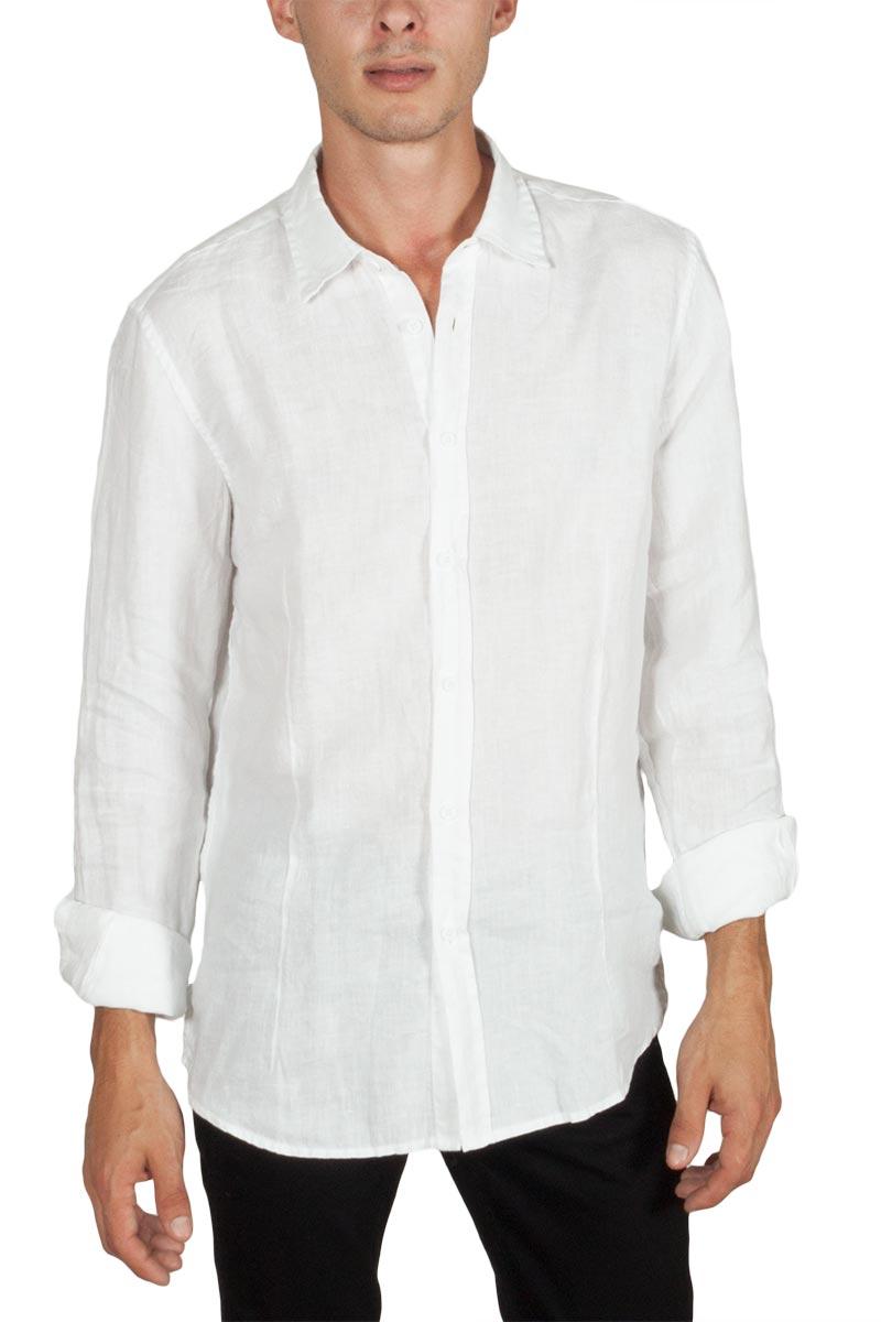c9668d2db873 Best Choice μακρυμάνικο λινό πουκάμισο λευκό - Glami.gr