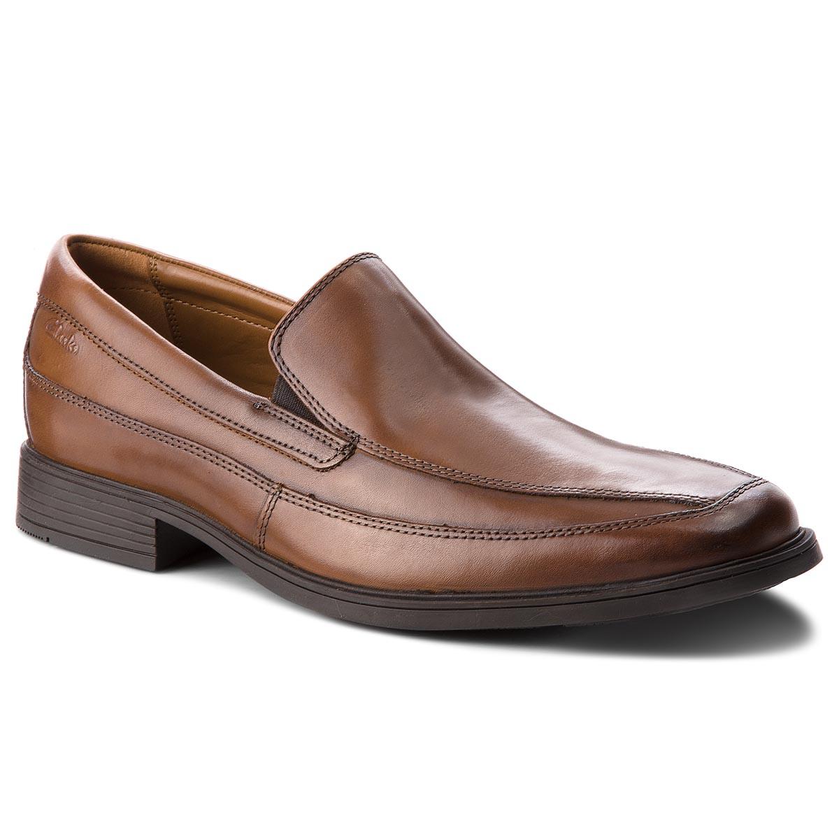 93aa9e31fe4 Κλειστά παπούτσια CLARKS - Tilden Free 261300987 Dark Tan Leather ...