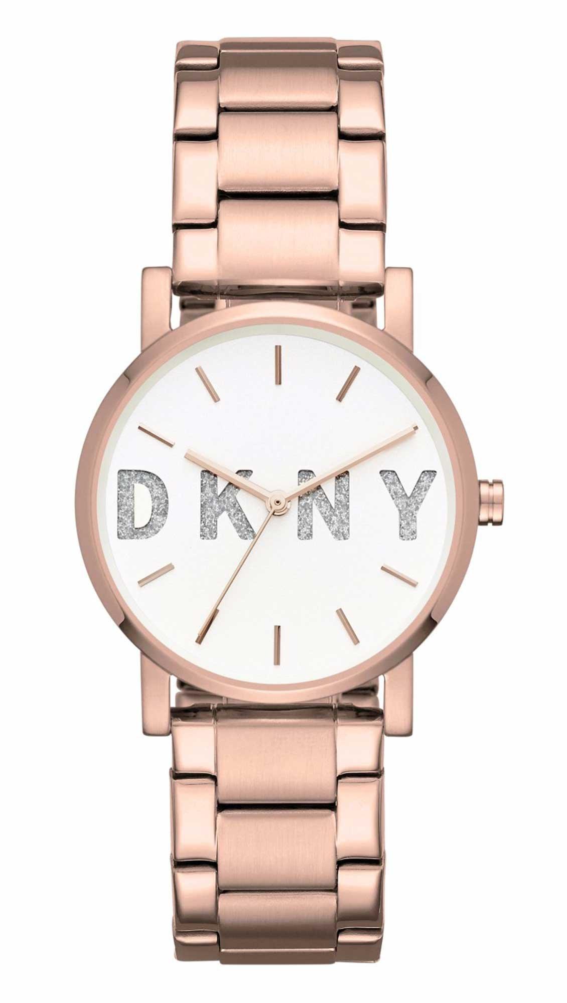 Ρολόι DKNY με ροζ χρυσό μπρασελέ και λευκό καντράν NY2654 - Glami.gr 7eef75ad49a