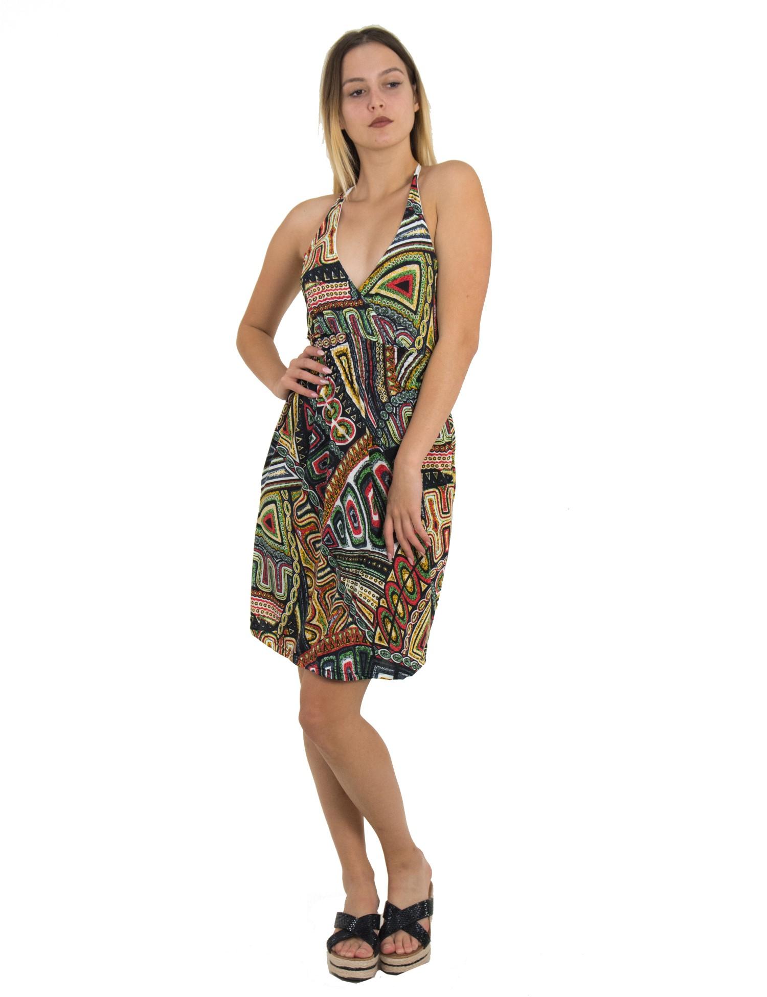 da5d539cdbcb Coocu Γυναικείο μαύρο εμπριμέ φόρεμα 167091681 - Glami.gr