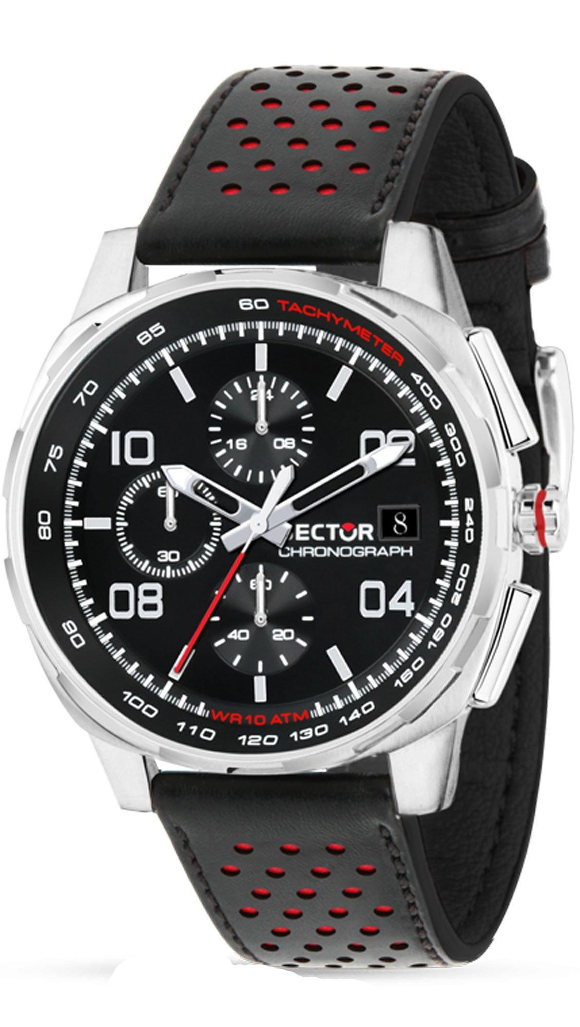 Ρολόι Sector 890 Collection χρονογράφος με μαύρο λουράκι R3271803001 ... b46751a7cf5