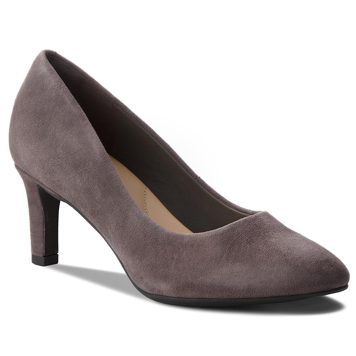 Κλειστά παπούτσια CLARKS - Calla Rose 261360484 Dark Grey Suede ... 1afa8b45729