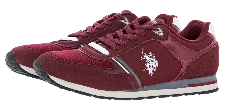 U.S. Polo Assn. Ανδρικά Παπούτσια Casual Werner Μπορντό Δέρμα ... 2cf56308867