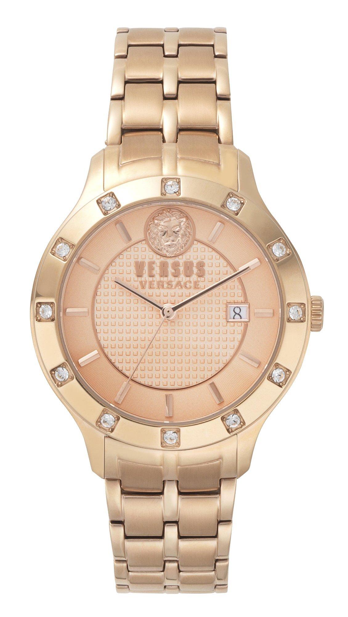 4443d93936 Versus Versace Ρολόι Versus by Versace με ροζ χρυσό μπρασελέ και ημερομηνία  VSP460418
