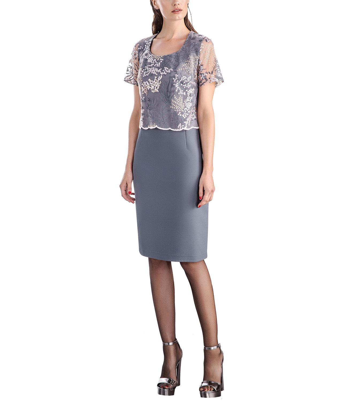 7a4d8cf937c0 RAVE Γκρι φόρεμα με δαντέλα - Glami.gr