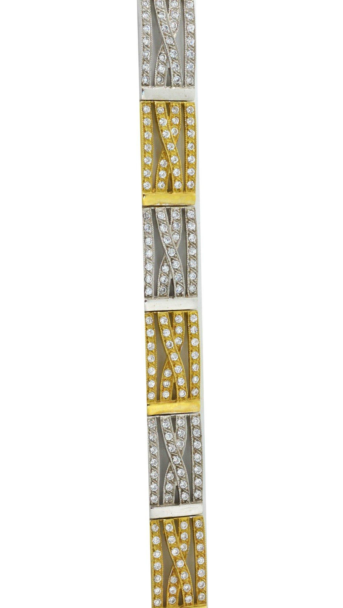 Watchmarket.gr Βραχιόλι σπαστή χειροπέδα με λευκόχρυσο και χρυσό 14 καράτια a5e9ce32101