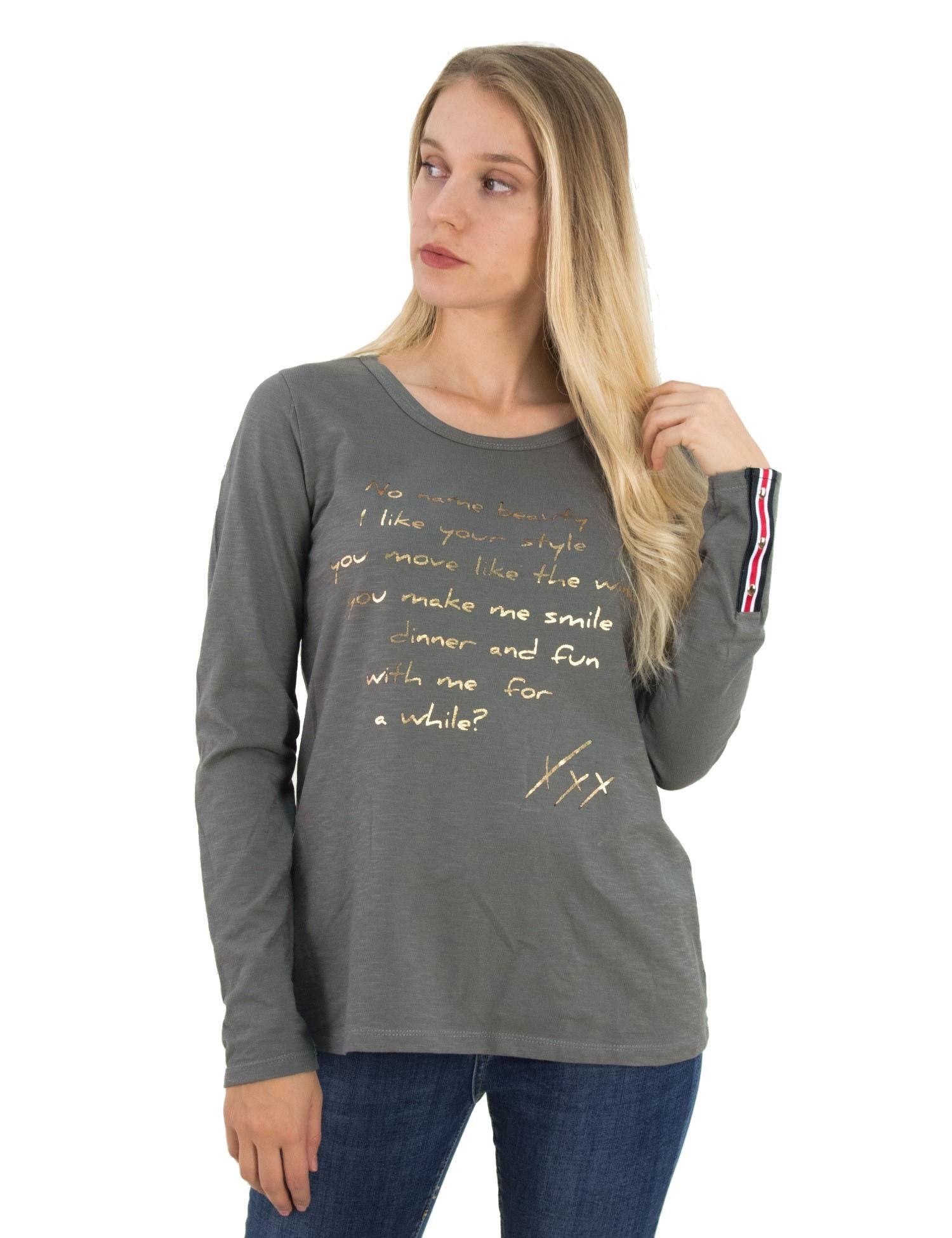 03f92b8aa045 Γυναικεία γκρι βαμβακερή μπλούζα Lipsy μονόχρωμη 2180006V - Glami.gr