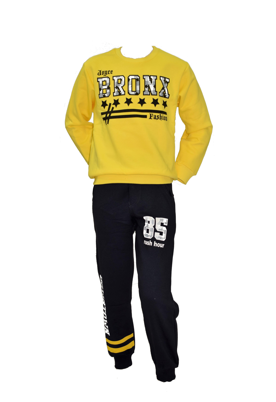 bc2f9c6a981 Σετ φόρμα bronx Joyce 6757 - κίτρινο Boy 4-16 years - Glami.gr