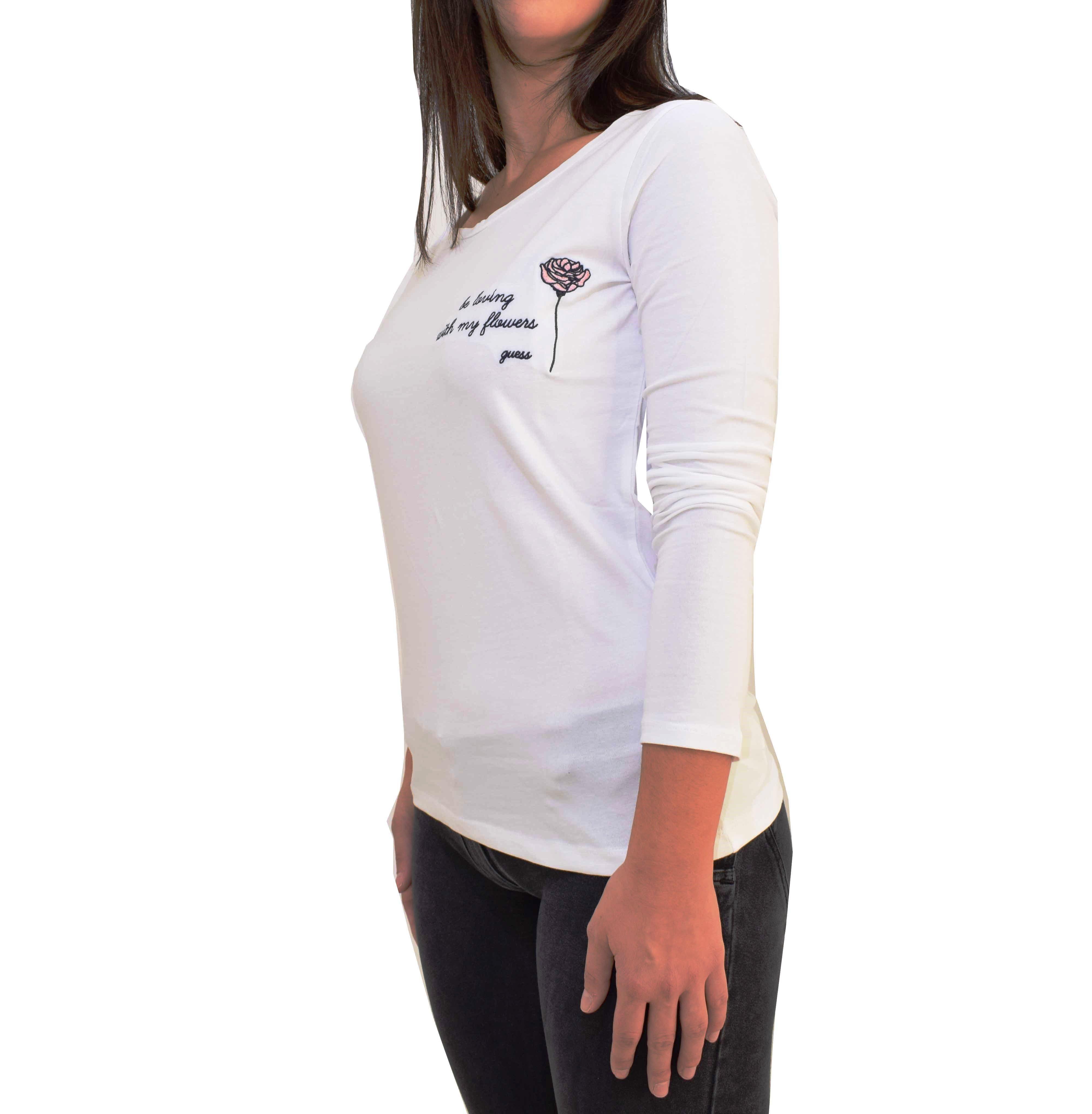 d57faf9bf4f1 T-shirt U neck Guess O74I02J1307 - λευκό Woman - Glami.gr