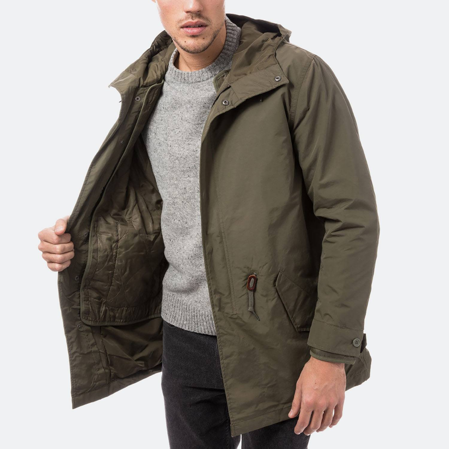 5b88d0924 Levis THERMORE PADDED PARKA OLIVE NIGHT