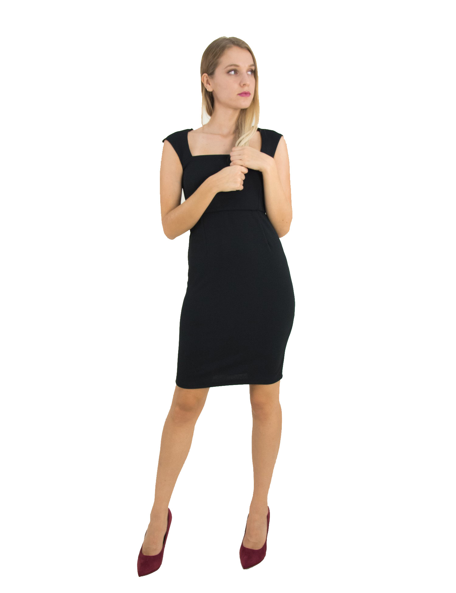 25a19c5dd17 No Stress Γυναικείο μαύρο Scuba midi φόρεμα μονόχρωμο 8305129. No Stress Γυναικείο  μαύρο Scuba midi φόρεμα μονόχρωμο 8305129