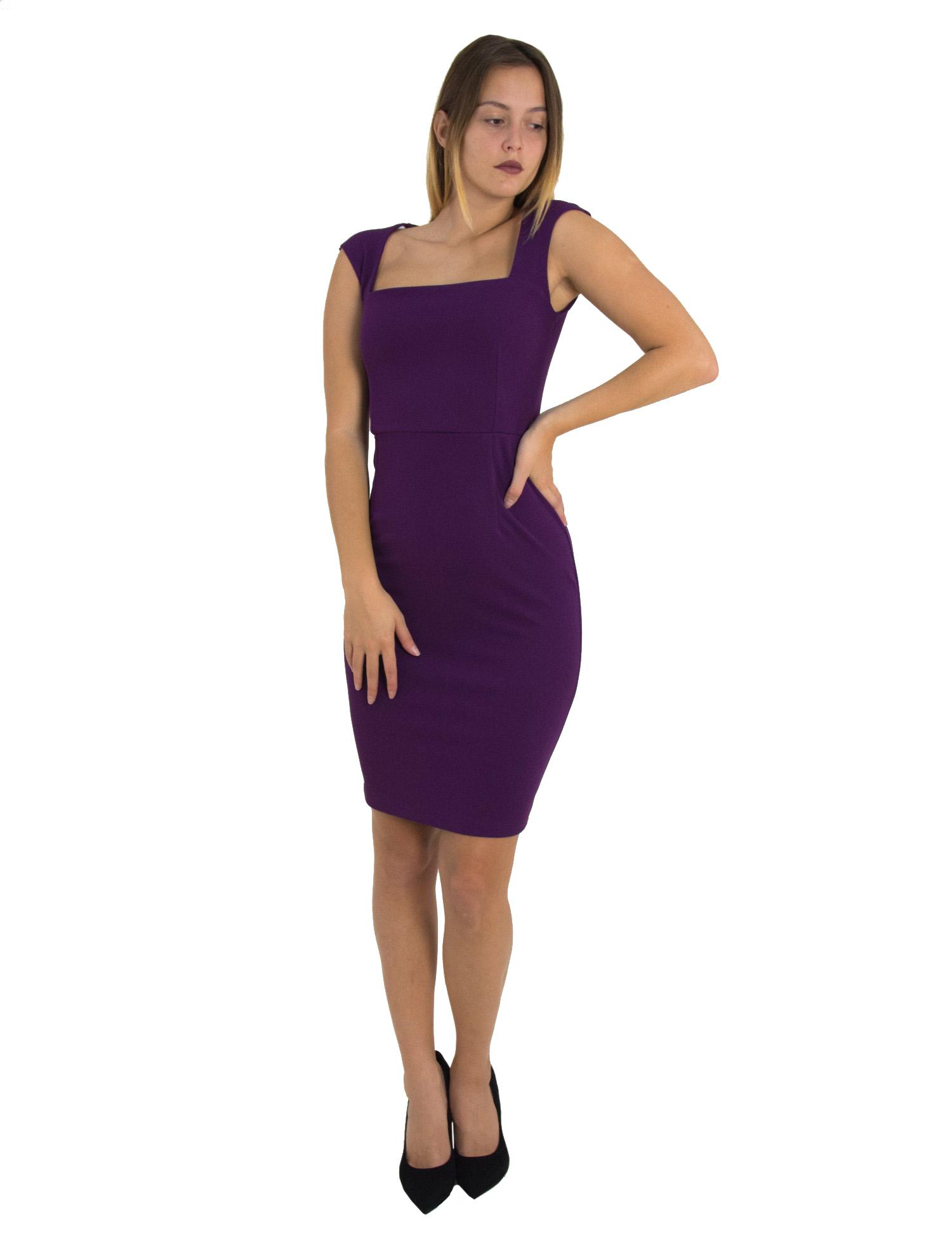 f9ccc053fd0 No Stress Γυναικείο μωβ Scuba midi φόρεμα μονόχρωμο 8305129F - Glami.gr