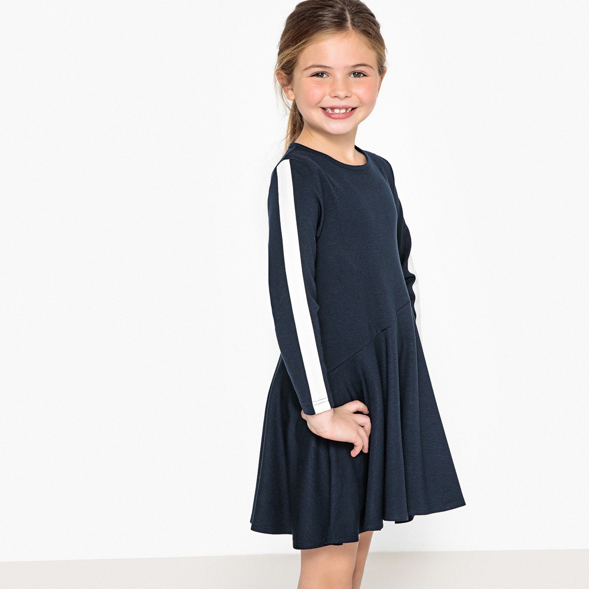 8bcb4dbc1ca LA REDOUTE COLLECTIONS Φόρεμα σε ελαστική ύφανση milano, 3-12 ετών ...
