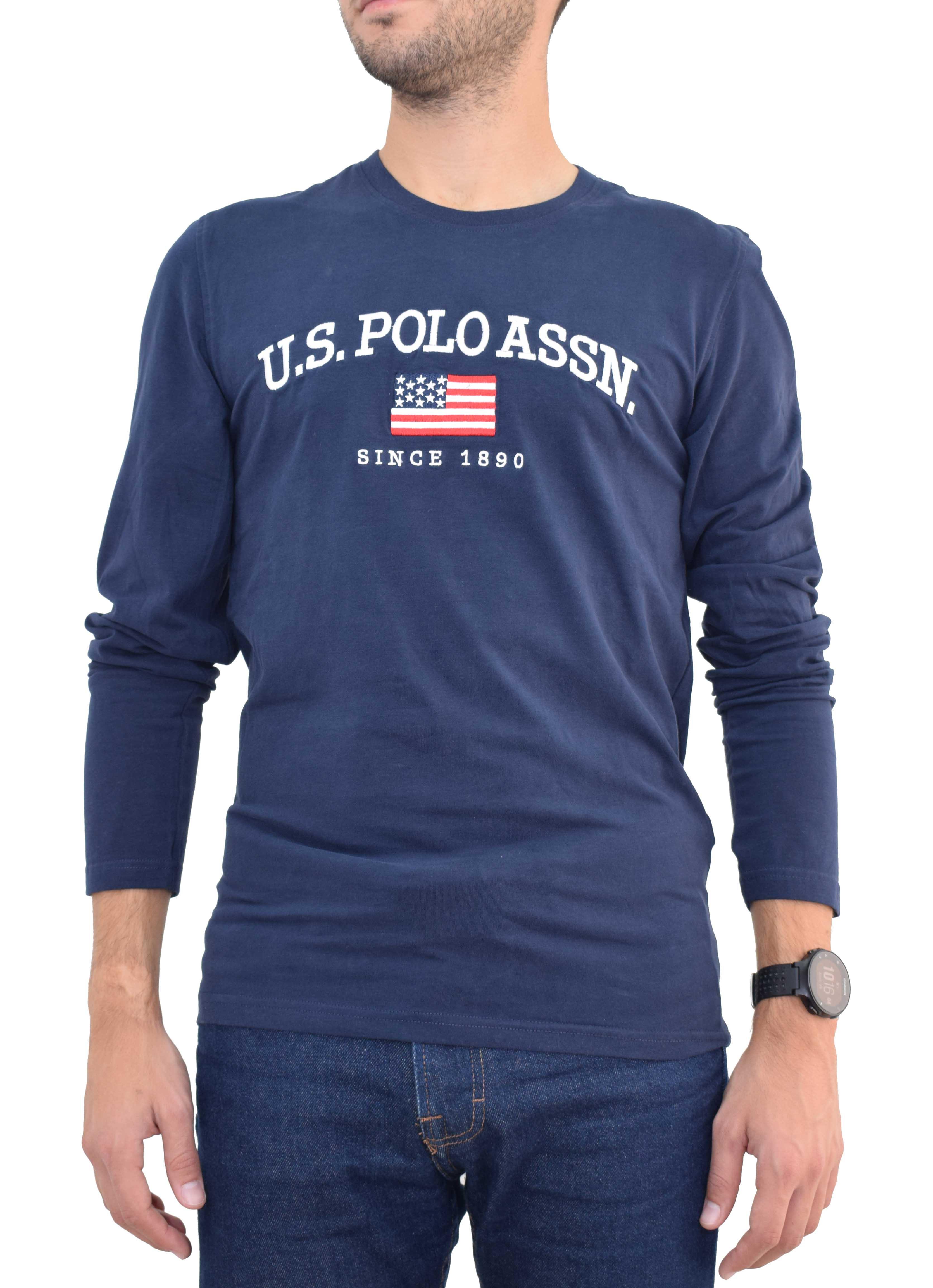 fb8f1735acca T-shirt l-s Logo U.S. Polo Assn. 50810-48769 - μπλε - Glami.gr