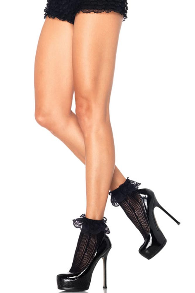 2ab676d8625 Leg Avenue Κάλτσες δαντέλα σε μαύρο χρώμα - LG3031-Black