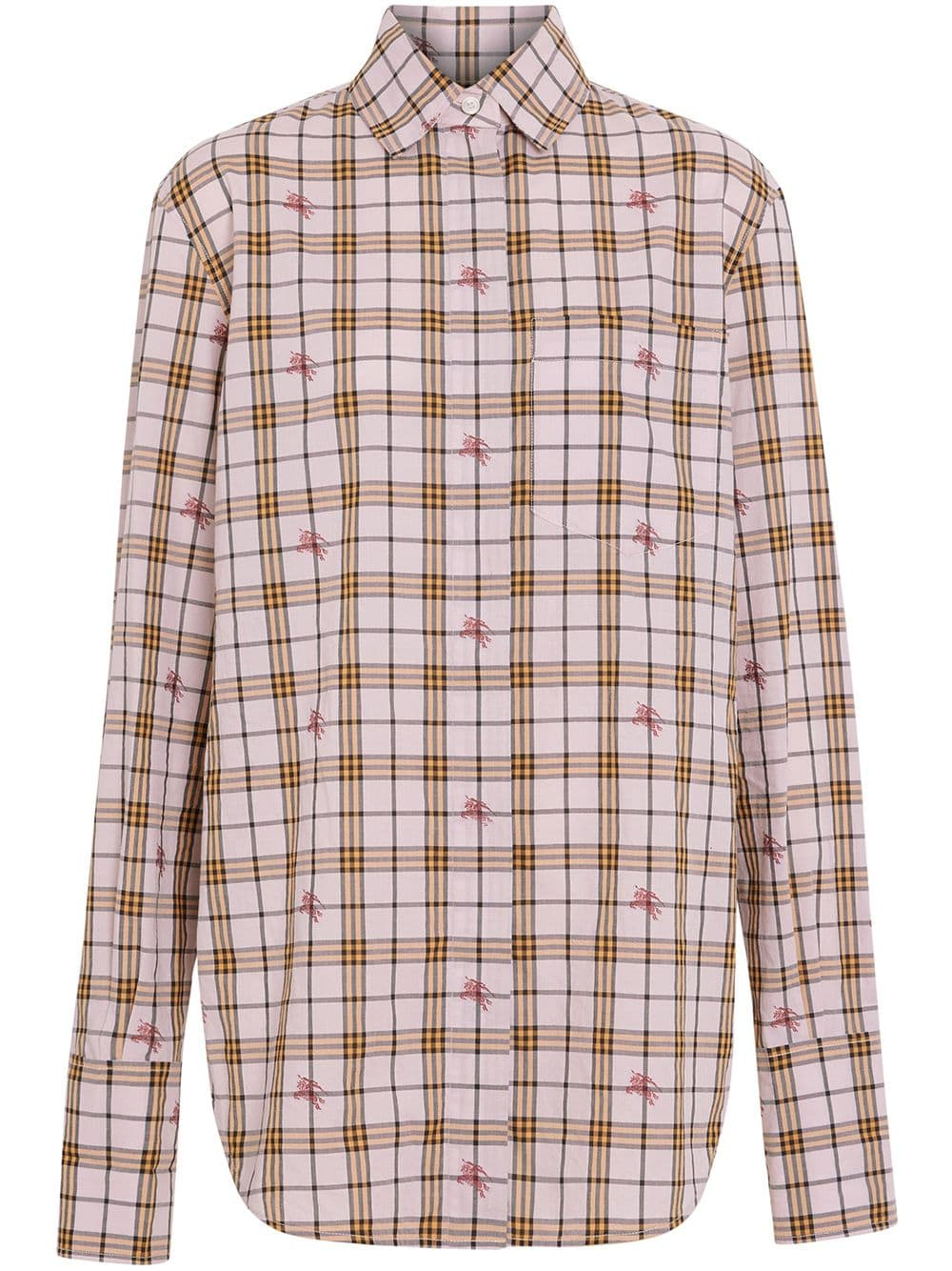 6a089c3a2c14 Burberry Fil Coupé Check Cotton Shirt - Pink - Glami.gr