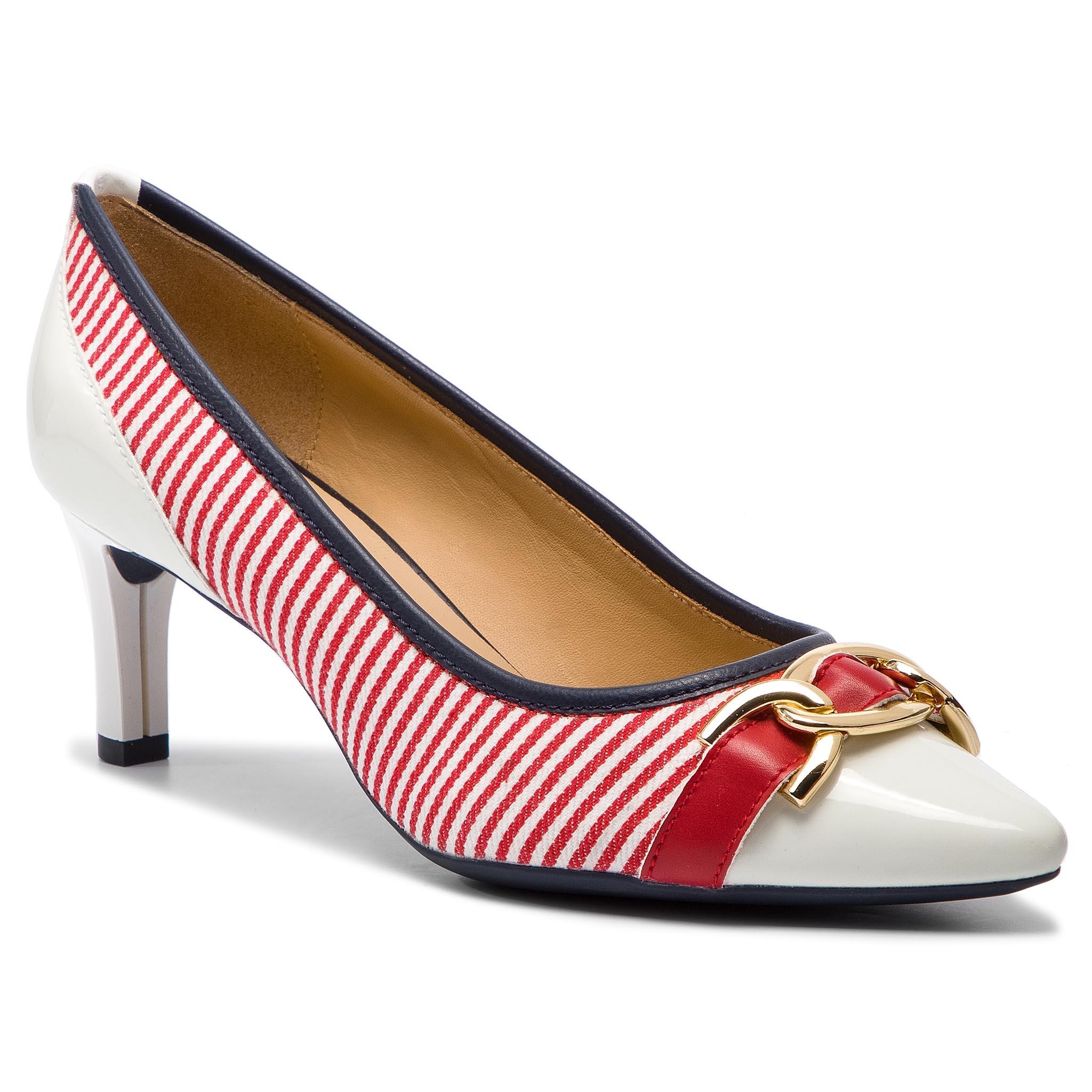 a7312b8420e Κλειστά παπούτσια GEOX - D Bibbiana D D829CD 0AWHH C0003 Red/White
