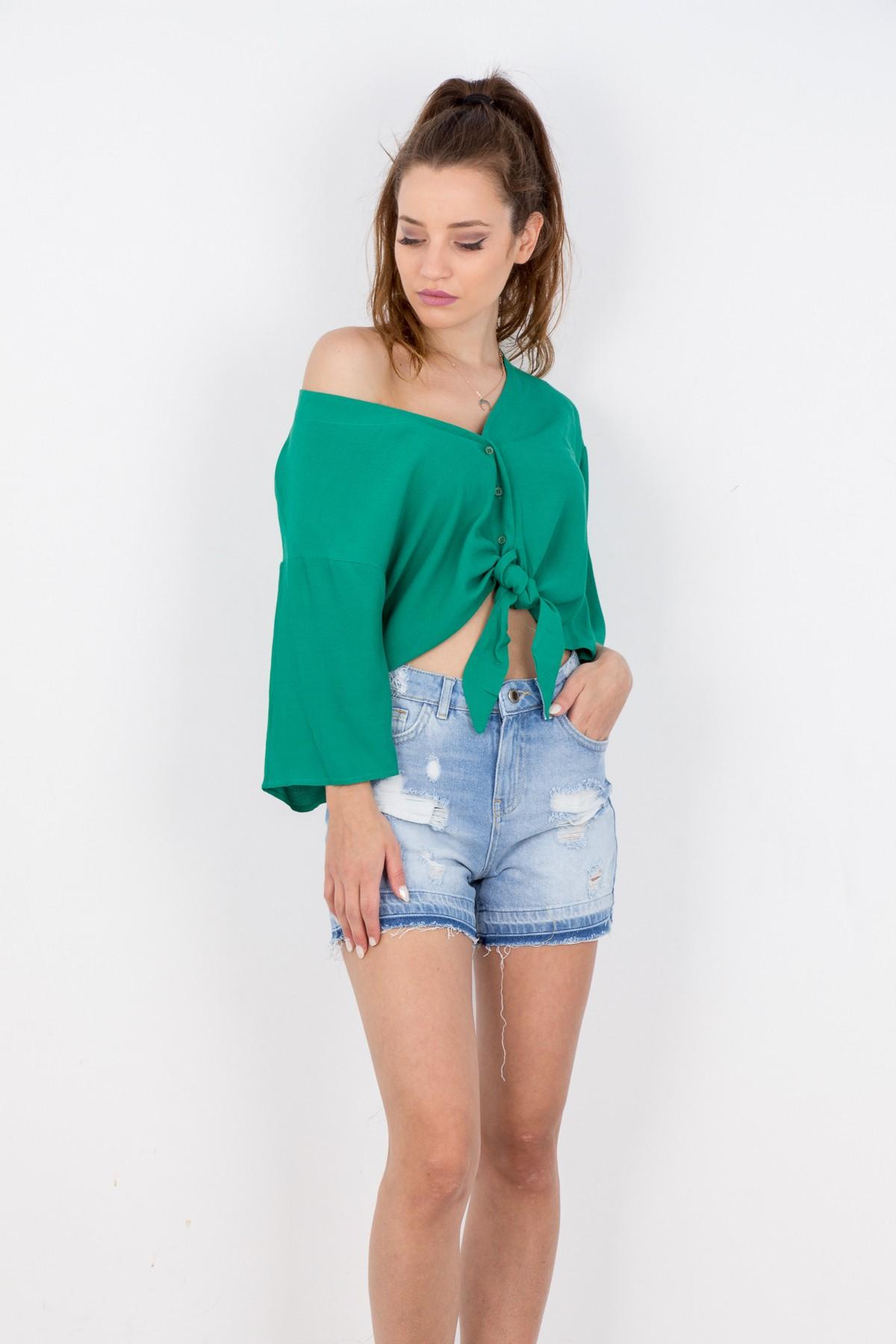 6a4e4dbcad9f BSM Γυναικεία μπλούζα με κουμπιά