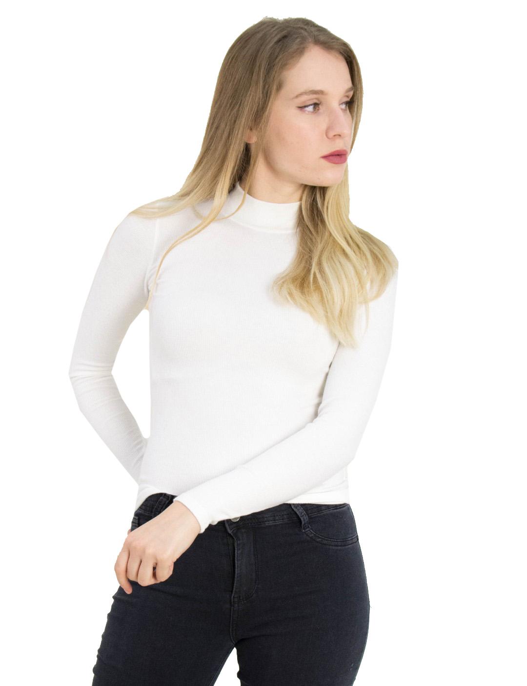 6549f9026a7d Γυναικεία λευκή ριπ μπλούζα λουπέτο Cocktail 014101079 - Glami.gr