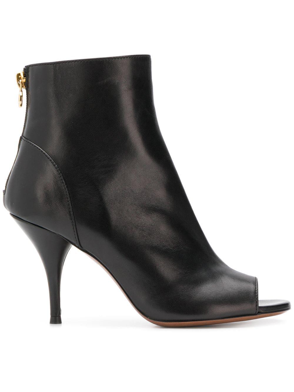 L'Autre Chose peep-toe ankle boots - Black