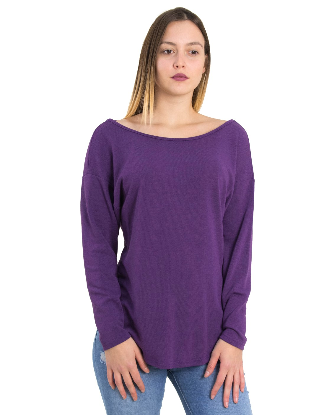 b1fdcb331da7 Γυναικεία μωβ μπλούζα χιαστί πλάτη Cocktail 014101032L - Glami.gr