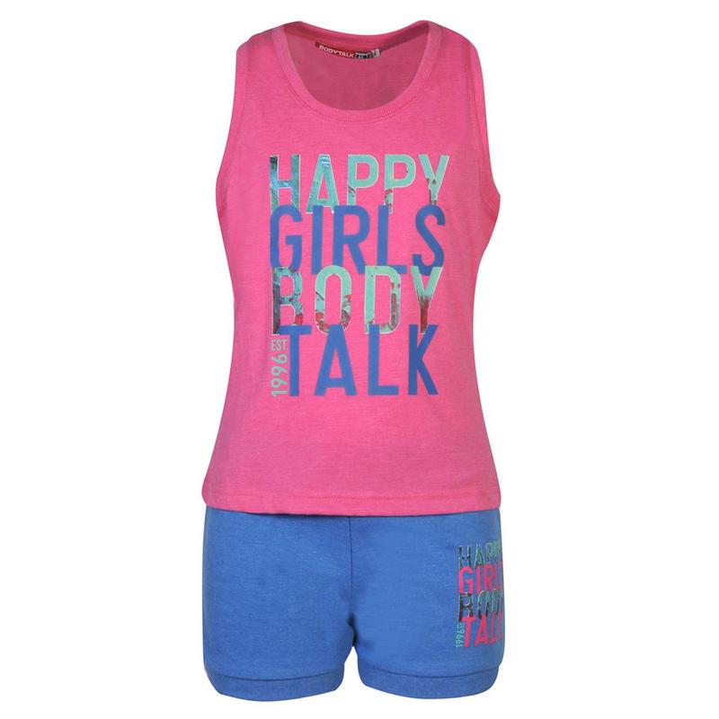 0144d1384f26 ΣΕΤ T-SHIRT ΑΜΑΝΙΚΟ -ΣΟΡΤΣ ΓΙΑ ΚΟΡΙΤΣΙ - GIRLS SET T-SHIRT-SHORTS ...