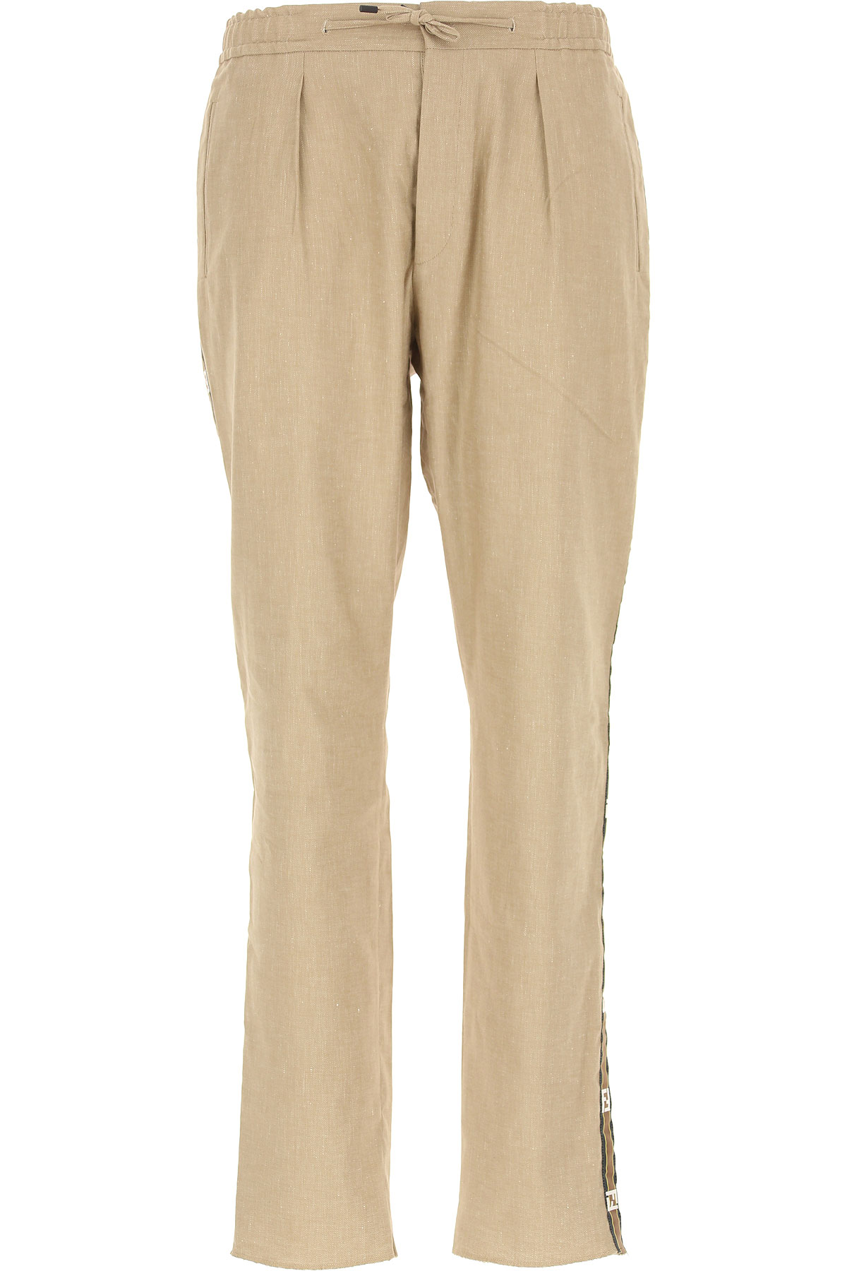 93fb244cfe8 Fendi Παντελόνια για Άνδρες Σε Έκπτωση, Μπεζ Πέτρα, λινό, 2019, 48 50