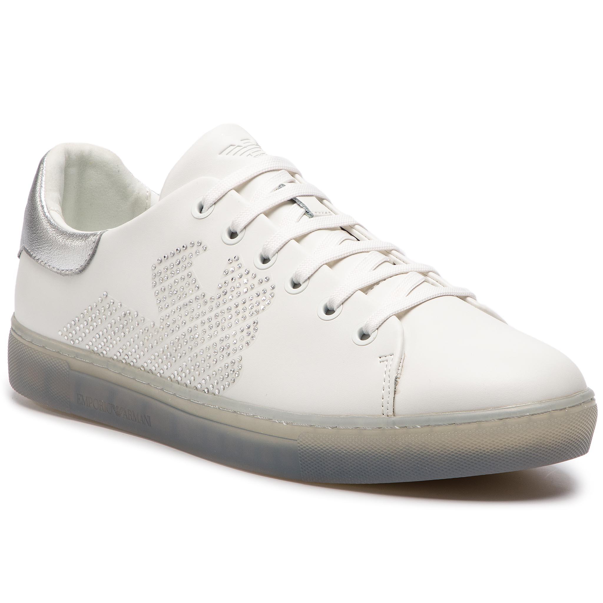 61c3075894 Αθλητικά EMPORIO ARMANI - X3X071 XL807 N627 White Silver - Glami.gr